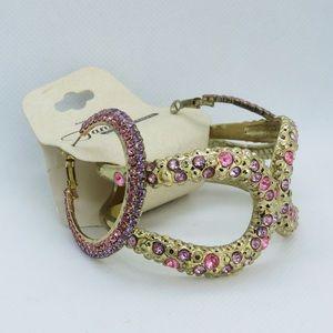 Tanya Creations Pink & Purple Jewelry Set